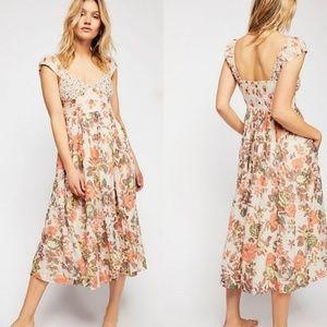Free people Love You Midi Dress Floral Medium